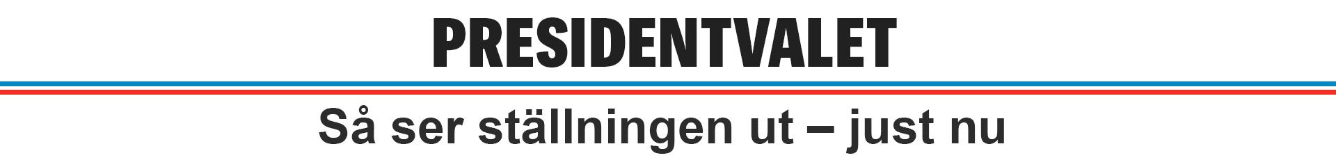 Presidentvalet - resultatet just nu