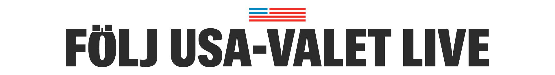 Följ USA-valet direkt med Expressen
